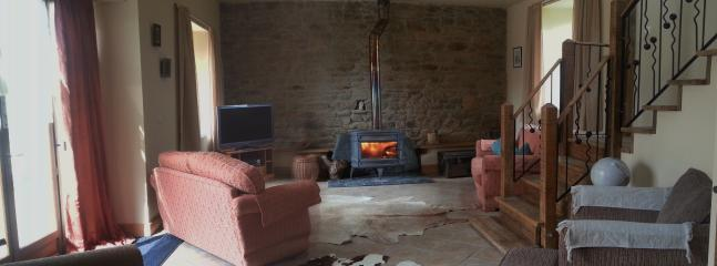 relax in front of a log fire