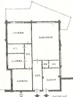 Floor plan of the apartment. Veranda is actually bigger than in plan.