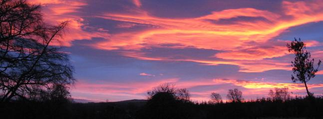 Sunrise from the front of Talwrn Glas