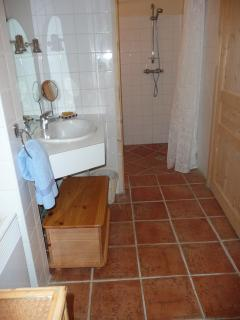 Separate Walk in Shower and WC
