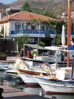 The fishing boats and fish restaurants of the lovely Selimiye harbour