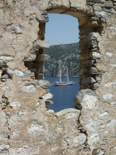 View from the old Greek Monastery - can be visited by daily boat trip (a must do on your holiday!)