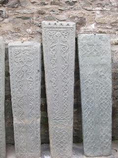 See the Medieval  Graveslabs in Kilmartin Churchyard