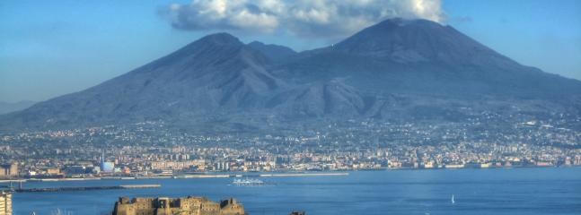 Vesuvius volcano and 'Castel dell'Ovo' (Naples)