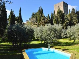 The Tower from the garden, the swimming pool