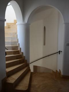 Unique Architectural Staircase Leading to the Roof Terrace with Ocean Views