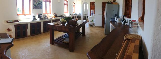 Large Kitchen with All Appliances Supplied, Coconut wood Central Kitchen Island