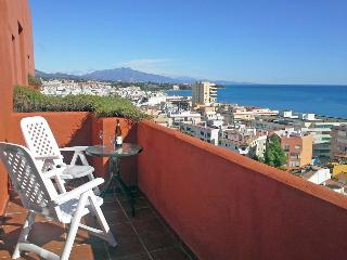 Views of Estepona town and Marbella mountain