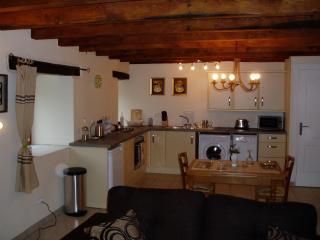 the spacious  newly fitted kitchen and dining area