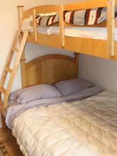 Kid's Room- full size futon below, single memory foam above