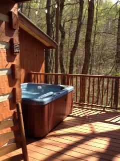 Hot Tub on the private deck and incredible outdoors!