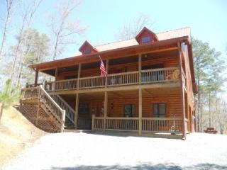 Pet Friendly cabin inside the Coosawattee River Resort in Ellijay georgia