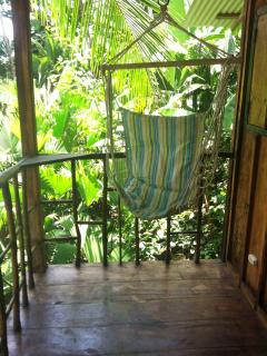 swing chair on the balcony