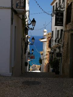 Pictuesque cobbled streets of Altea old town