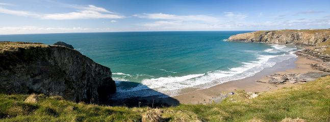 Trebarwith Strand - our nearest beach