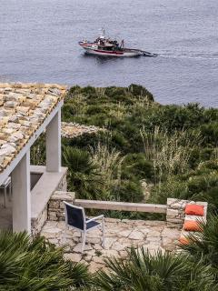 Opened terrace chalet le Palmette