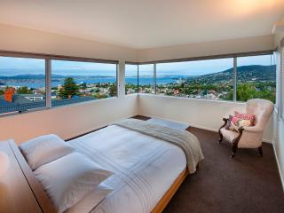 Daybreak in 'The Derwent Suite' with king bed, ensuite and 280° views.