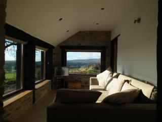 Sunroom by day with panoramic views over the Owenreagh Valley