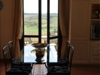 View from dining room over beautiful Tuscan countryside
