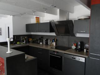 The open concept kitchen, brand new and fully equiped
