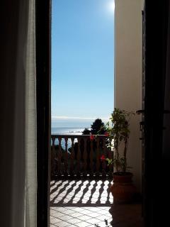 Accesso al terrazzo dal soggiorno