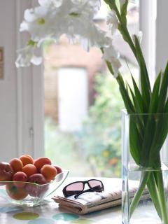 Breakfast overlooking the garden