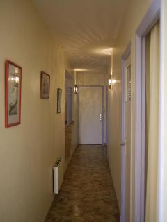 The corridor to the bedrooms.