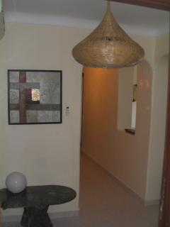 into the entrance lobby, (plenty of room to store a buggy) down the hall to..