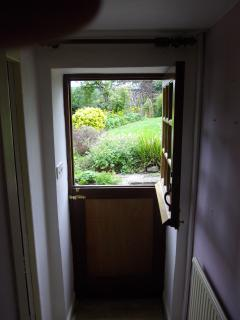 stable door to garden