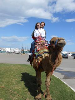 but my granddaughter thought a camel ride beat everything!