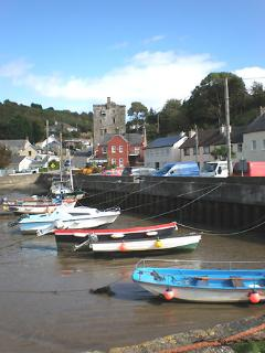 Colourful Harbour at Ballyhack near the farm