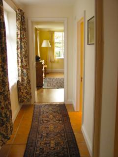 Hall way from the kitchen to the sitting room