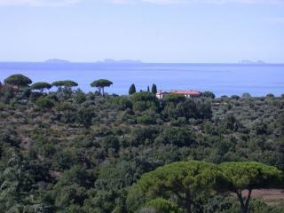 Villa con piscina vista panoramica