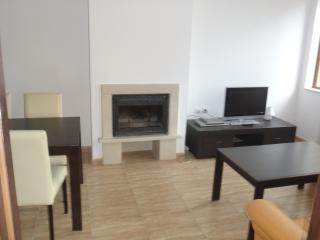 Lounge area with log burner and TV/DVD