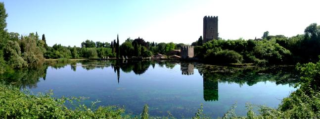 Ninfa Gardens (in the area of Sermoneta medieval town), 78 km from home