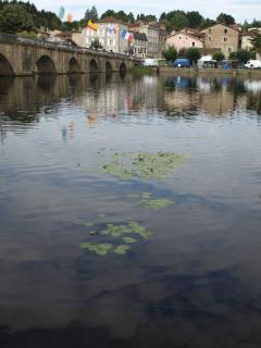 River Vienne at Confolens.  Festival de Folklore every August.