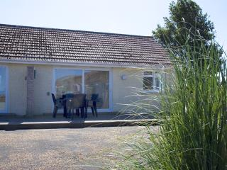 Showing the front of the chalet