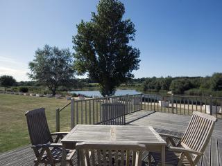 From the private decking overlooking the lake
