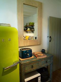 Our funky much loved Smeg fridge freezer!