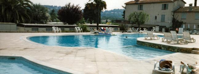 Pool area, large pool, childrens pool and plunge pool