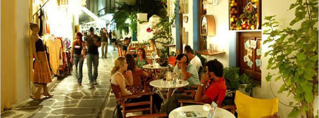 Ambiance dans les rues le soir