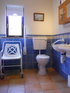 the downstairs ensuite is ideal for people with disabilities