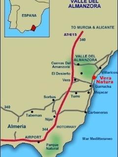 Map location of Vera Natura