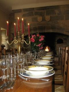 The Dining Room at Château de Lamostonie