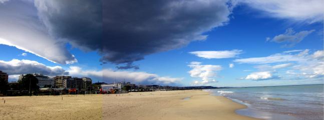 A beautiful sunny October day on Pescara beach