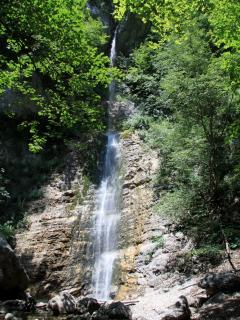 Walks in the mountains - the spectacular 20m high Cascada san Giovanni reached from Bocce de Valle