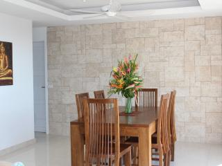 Dining room with Thai hand made furniture