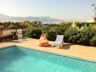 superb sea and mountain views from private patio / pool