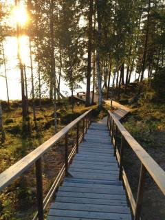 Stairs to the lake