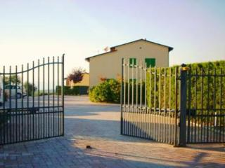 Automatic gates at the entrance
